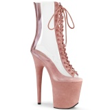 Rose Transparent 20 cm FLAMINGO-800-34FS bottines de pole dance