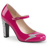 Rose Verni 10 cm QUEEN-02 grande taille escarpins femmes
