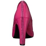 Rose Verni 10 cm QUEEN-04 grande taille escarpins femmes