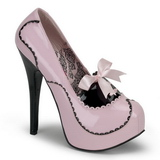 Rose Verni 14,5 cm Burlesque BORDELLO TEEZE-01 Escarpins Haut Talon