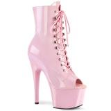 Rose Verni 18 cm ADORE-1021 bottines plateforme pour femmes