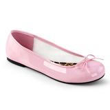 Rose Verni ANNA-01 grande taille chaussures ballerines
