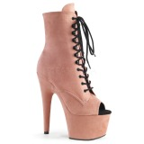Rose faux suede 18 cm ADORE-1021FS bottines de pole dance