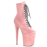 Rose faux suede 20 cm FLAMINGO-1020FS bottines de pole dance