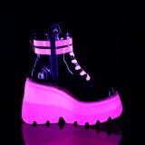 Rose neon 11,5 cm SHAKER-52 bottines cyberpunk plateforme