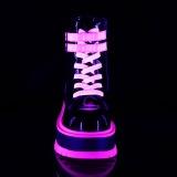 Rose neon 5 cm SLACKER-52 bottines cyberpunk plateforme