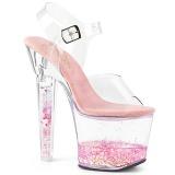 Rose paillettes 18 cm LOVESICK-708GH chaussure à talons de pole dance