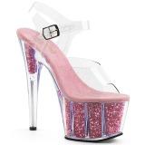 Rose paillettes 18 cm Pleaser ADORE-708G chaussure à talons de pole dance