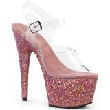Rose paillettes 18 cm Pleaser ADORE-708LG chaussure à talons de pole dance