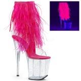 Rose plumes de marabout 20 cm FLAMINGO-1017MFF chaussure de pole dance