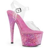 Rose transparent 18 cm ADORE-708CF chaussures de striptease
