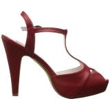 Rouge 11,5 cm BETTIE-23 Sandales de Soirée a Talon