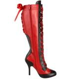 Rouge 11,5 cm TEMPT-126 Bottes à Lacets Femmes