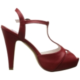 Rouge 11,5 cm retro vintage BETTIE-23 Sandales de Soirée a Talon