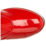 Rouge 11 cm EXOTICA-2000 retro disco bottes à talon carré vernies