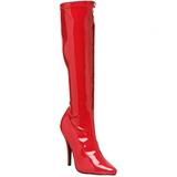 Rouge 13 cm SEDUCE-2000 bottes à talon aiguille vernies