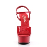 Rouge 15 cm DELIGHT-609 talons hauts pleaser plateforme