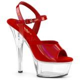 Rouge 15 cm KISS-209BHG Plateforme Chaussures Talon Haut