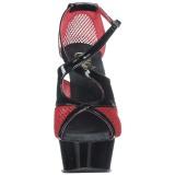 Rouge 15 cm Pleaser DELIGHT-652 Sandales femme à talon