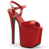 Rouge 18,5 cm Devious TRAMP-709 Fetiche Chaussure Talons Hauts