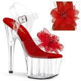 Rouge 18 cm ADORE-708BFL sandales pleaser plateforme