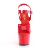 Rouge 18 cm ADORE-708N Plateforme Chaussures Talon Haut