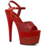 Rouge 18 cm ADORE-709-2G etincelle sandales avec plateforme