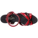 Rouge 18 cm Pleaser MOON-728 Platform High Heel Chaussures