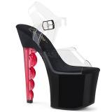 Rouge 18 cm SCALLOP-708 Plateforme Chaussures Talon Haut