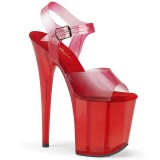 Rouge 20 cm FLAMINGO-808N-T sandales pleaser plateforme