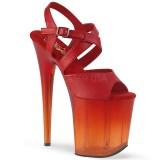 Rouge 20 cm FLAMINGO-822T chaussures plateforme et talons