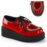 Rouge 5 cm CREEPER-108 chaussures creepers femmes semelles épaisses