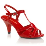 Rouge 8 cm BELLE-322 chaussures travesti
