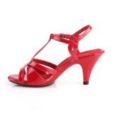 Rouge 8 cm Fabulicious BELLE-322 sandales à talons aiguilles