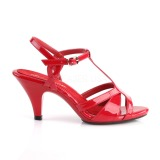 Rouge 8 cm Fabulicious BELLE-322 sandales petit talon bas