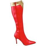 Rouge 9,5 cm WONDER-130 Bottes Femmes Hautes