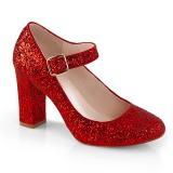 Rouge 9 cm SABRINA-07 escarpins femmes à talons épais