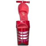 Rouge Acrylique 20 cm FLAMINGO-889LN Sandales Femme à Talon