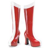 Rouge Blanc 11 cm Funtasma EXOTICA-305 Plateforme Bottes Femmes