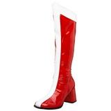 Rouge Blanc 8 cm GOGO-305 Bottes Femmes Hautes
