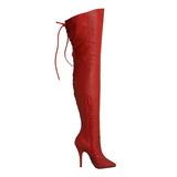 Rouge Cuir 13 cm LEGEND-8899 Cuissardes Bottes Longues