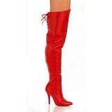 Rouge Cuir 13 cm LEGEND-8899 Cuissardes Bottes pour Hommes