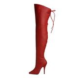 Rouge Cuir 13 cm LEGEND-8899 bottes cuissardes hommes