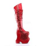 Rouge Etinceler 22 cm FABULOUS-3035 Bottes pour Drag Queen