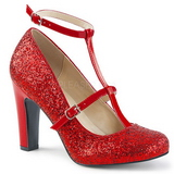 Rouge Etincelle 10 cm QUEEN-01 grande taille escarpins femmes
