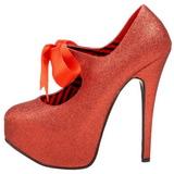 Rouge Etincelle 14,5 cm Burlesque TEEZE-04G Chaussures pour femmes a talon
