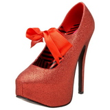 Rouge Etincelle 14,5 cm TEEZE-04G Chaussures pour femmes a talon