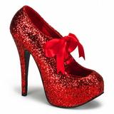 Rouge Etincelle 14,5 cm TEEZE-10G Platform Escarpins Chaussures