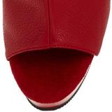 Rouge Mat 15 cm DELIGHT-1018 Plateforme Bottines