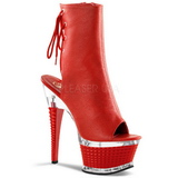 Rouge Mat 16,5 cm Pleaser ILLUSION-1018 Plateforme Bottines